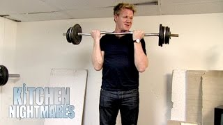 Depressed Owner Destroys Gym And Ruins Italian Food - Kitchen Nightmares