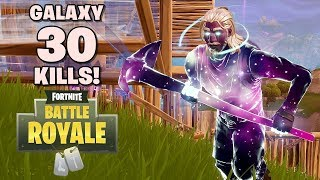 Set Skin Galaxy + 30 Squad Kills! - Fortnite: Battle Royale (w/ ZimzAjaib)
