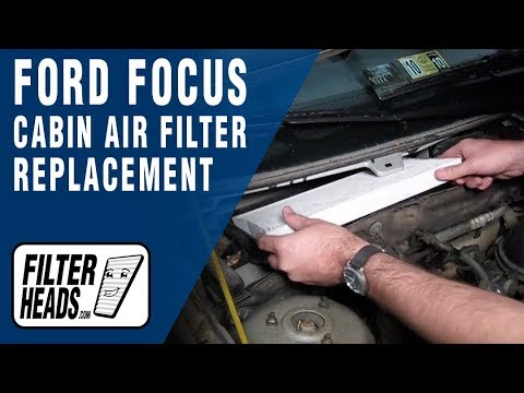 How To Replace Cabin Air Filter Ford Focus Youtube