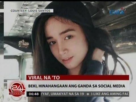 24 Oras: Beki, hinahangaan ang ganda sa social media