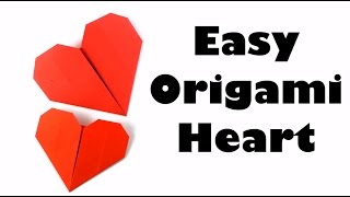 Super Easy Origami Heart - Step by Step Easy Origami Tutorial for Beginners - DIY Paper Heart