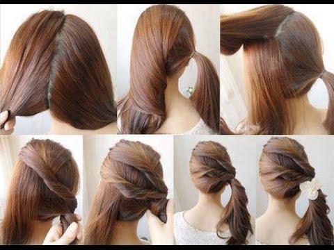 Make Cute Ponytail Short Hair Youtube