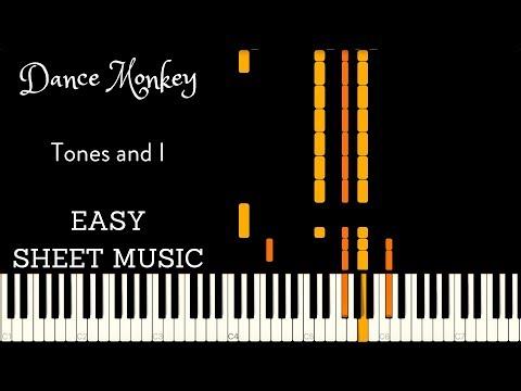 Dance Monkey Easy Piano Sheet Music Patreon Reward Youtube