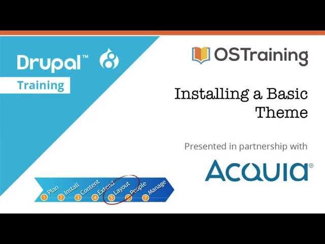 Drupal 8 Beginner, Lesson 54: Installing a Basic Theme