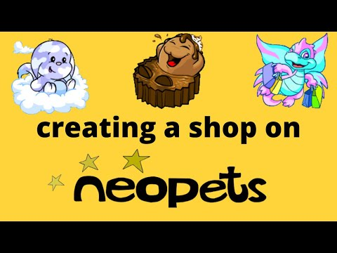How To Start A Shop On Neopets