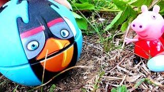 Свинка Пеппа и Энгри Бёрдс - Крашики. Видео для детей с игрушками. Angry Birds