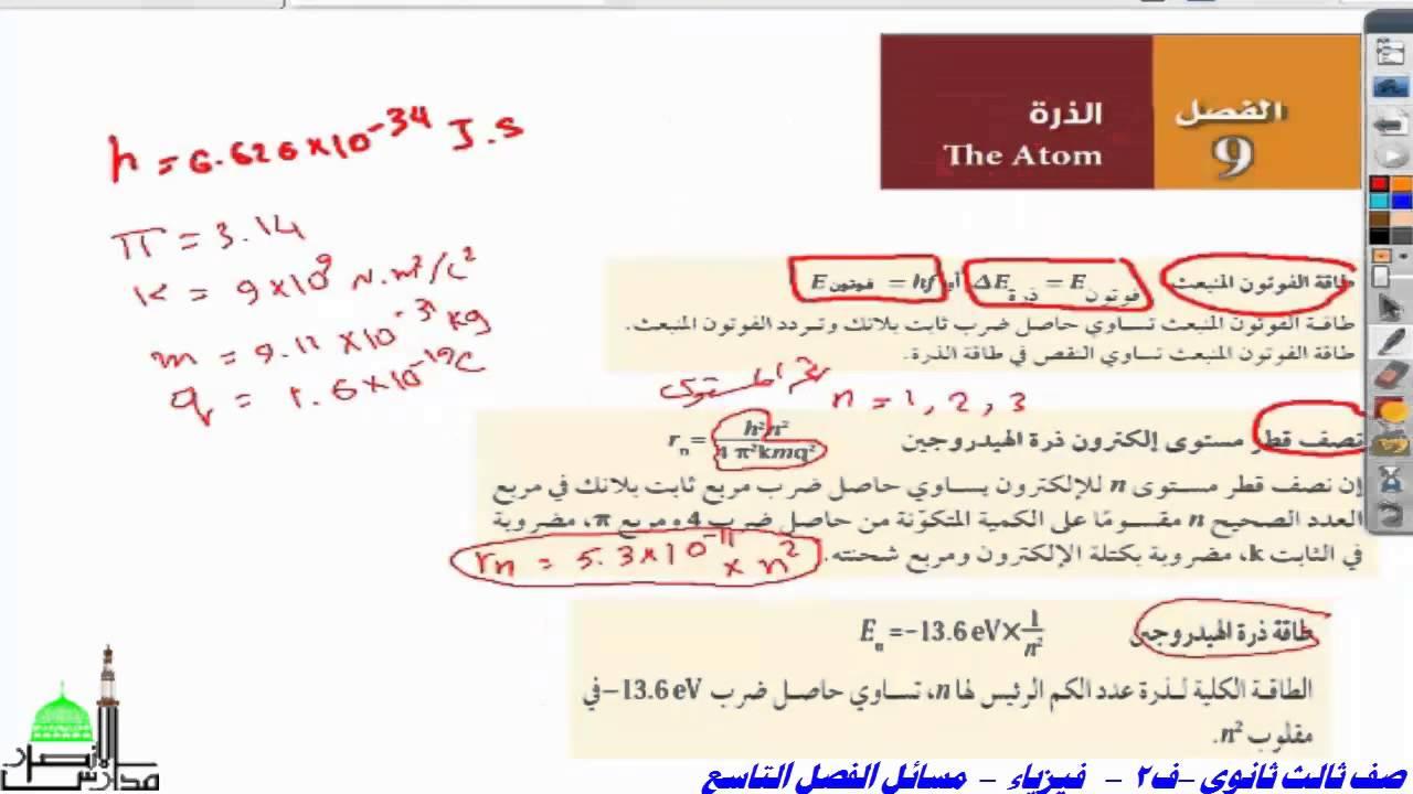 حل كتاب الفيزياء اول ثانوي ف1