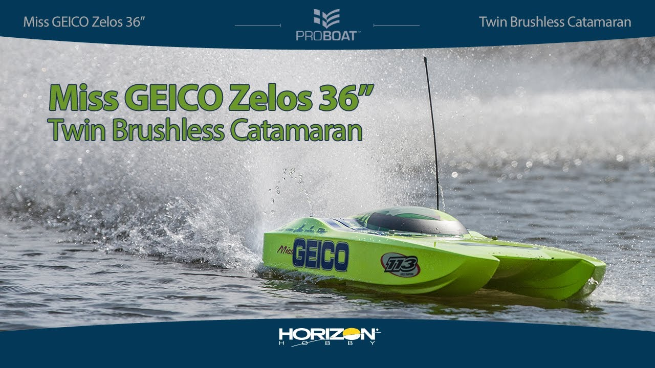 "Pro Boat® Miss GEICO Zelos™ 36"" Twin Brushless Catamaran RTR"