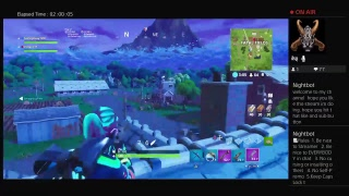 ZedacoYT's Live PS4 Fortnite stream looking 4 skin transfers