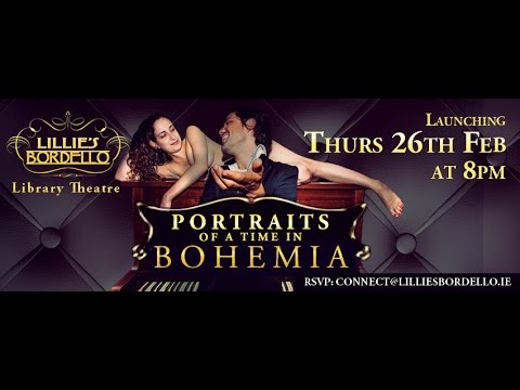 Portraits of a time in Bohemia in the Library Theatre at Lillies Bordello
