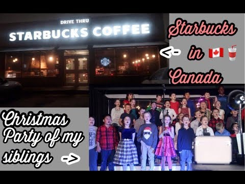 Starbucks in Canada// Liam and Madi's Christmas Party