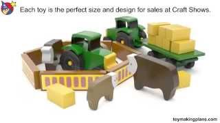Wood Toy Plans - Mini Farm Cattle Ranch
