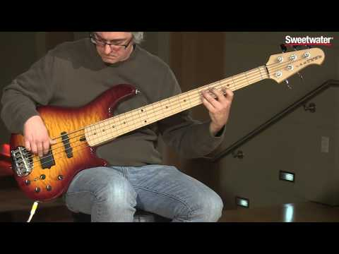 Lakland Skyline 55-02 Deluxe 5-string Bass Guitar Demo by Sweetwater