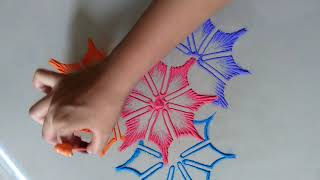 Very very creative beautiful attractive rangoli for festivals || Best Festival Rangoli || रंगोली