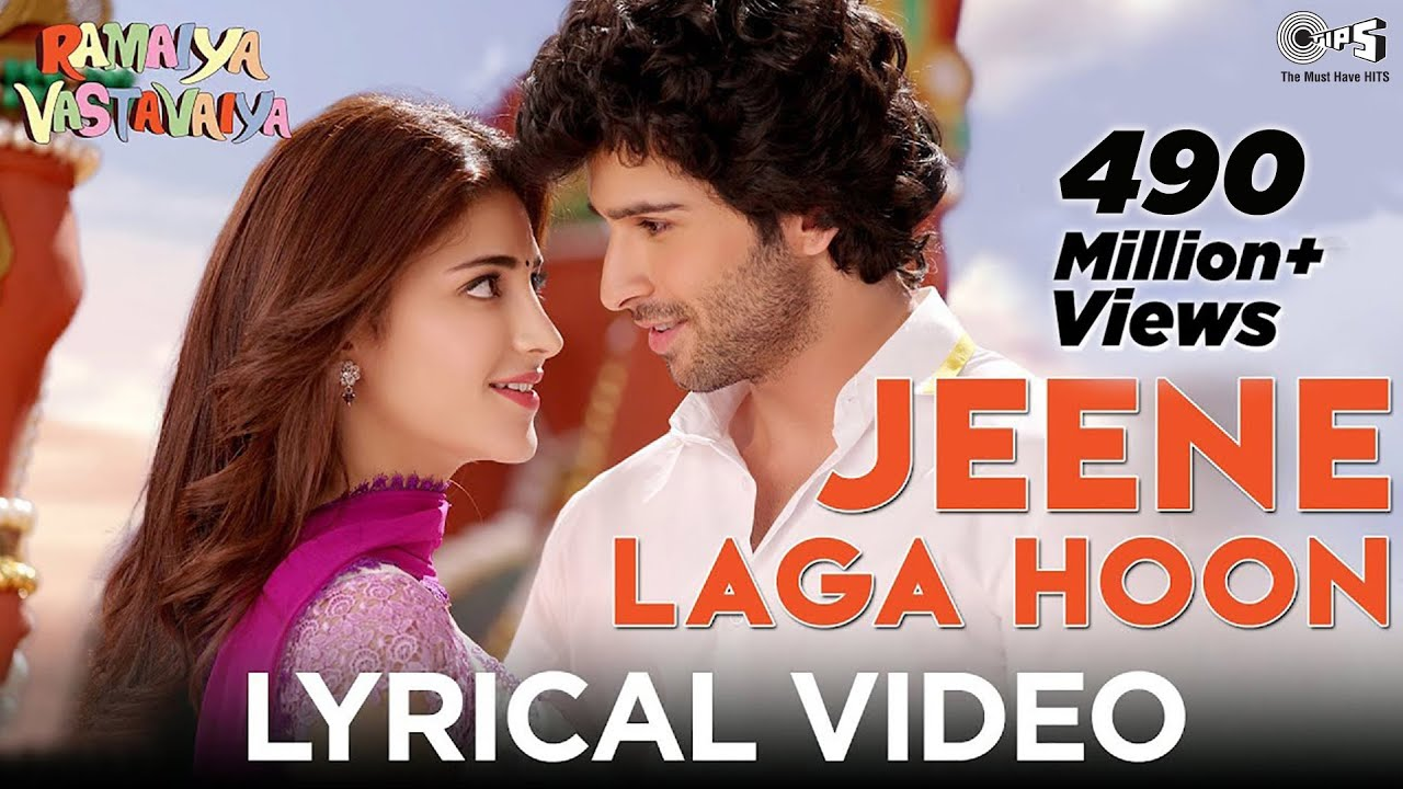 Jeene Laga Hoon Lyrical Video | Ramaiya Vastavaiya | Girish Kumar, Shruti Haasan | Atif Aslam