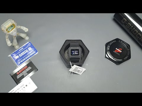 Unboxing & Cara Setting G-SHOCK DW-D5500BB (indonesia)