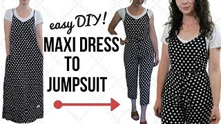 Easy Dress to Jumpsuit Refashion! | Episode 14