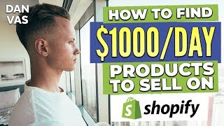 Shopify Product Research | How To Sell Products Online And Make $1,000/Day Shopify Dropshipping