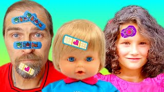 The Boo Boo Story from Alice and Daddy // Funny stories for kids // Kisah boo boo