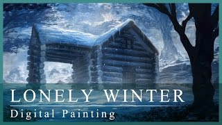 Digital Painting | Lonely Winter (with annotations!)