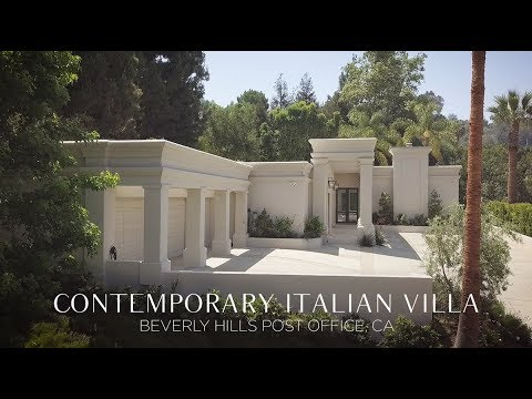 contemporary italian villa in beverly hills post office youtube