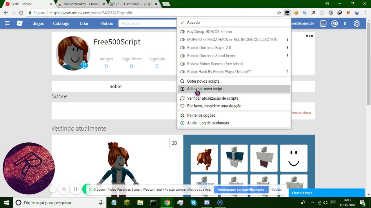 Roblox New Robux Script Get 500 Robux Free Youtube