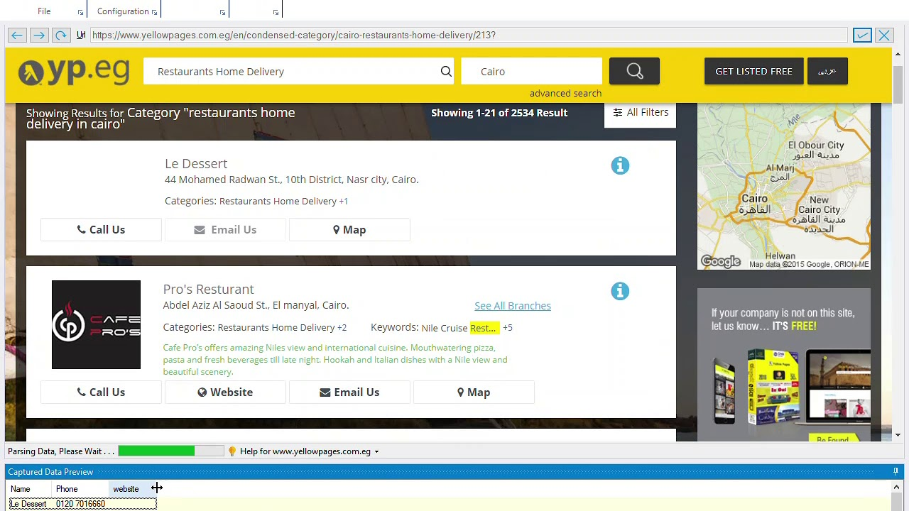 How to scrape data from Yellow Pages websites ?