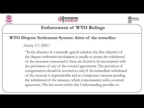 Enforcement of WTO rulings (Law)