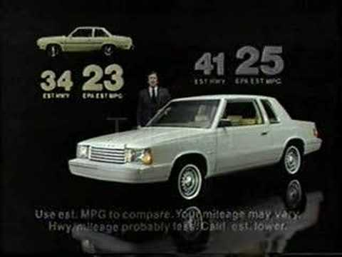 1981 Dodge Aries K Commercial Youtube