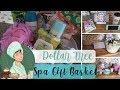 Dollar Tree Spa Gift Basket Idea   Perfect Life Ideas Bath Tub Caddy Tray