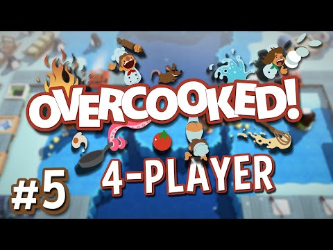 Overcooked - #5 - Feed the Penguins! (4 Player Overcooked Co-op Gameplay)