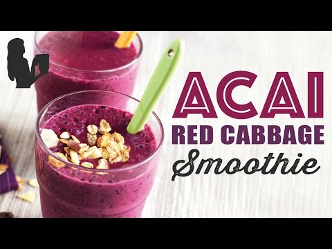 Acai Red Cabbage Smoothie recipe made using a Vitamix or Blendtec