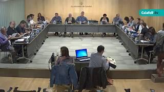 Ajuntament de Calafell: 1a sessió plenària extraordinària, 23 d'octubre de 2017