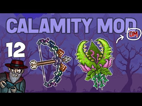 Terraria # 12 INSANE NEW BOW!! -  Calamity Mod D-Mode Let's Play