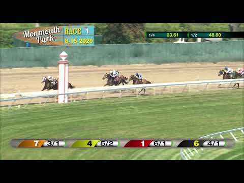 video thumbnail for MONMOUTH PARK 08-15-20 RACE 1