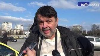 Протест на таксиметровите шафьори в Пловдив