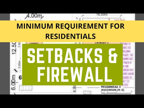 SETBACKS AND FIREWALL // For Residentials with illustrations_Vlog 019