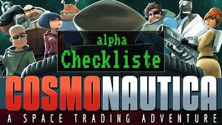 Checkliste: Cosmonautica - alpha [ Gameplay / Preview / Deutsch / German ]