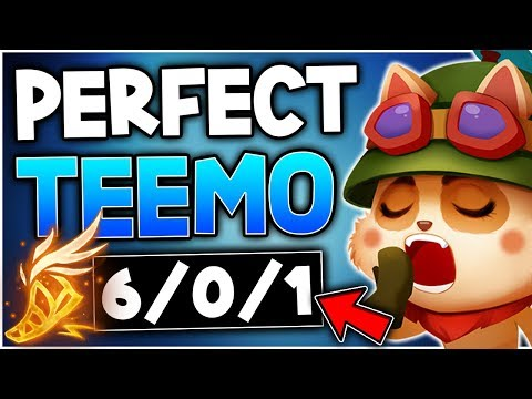 How to play a Perfect Teemo game in Season 9! - Teemo Only Season 9