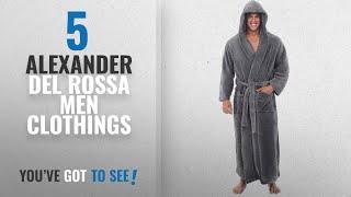 Top 10 Alexander Del Rossa Men Clothings [ Winter 2018 ]: Del Rossa Mens Fleece Robe, Long Hooded