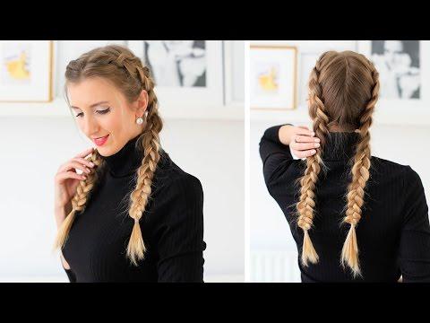 How to: Double Dutch Braid Hair Tutorial | Luxy Hair