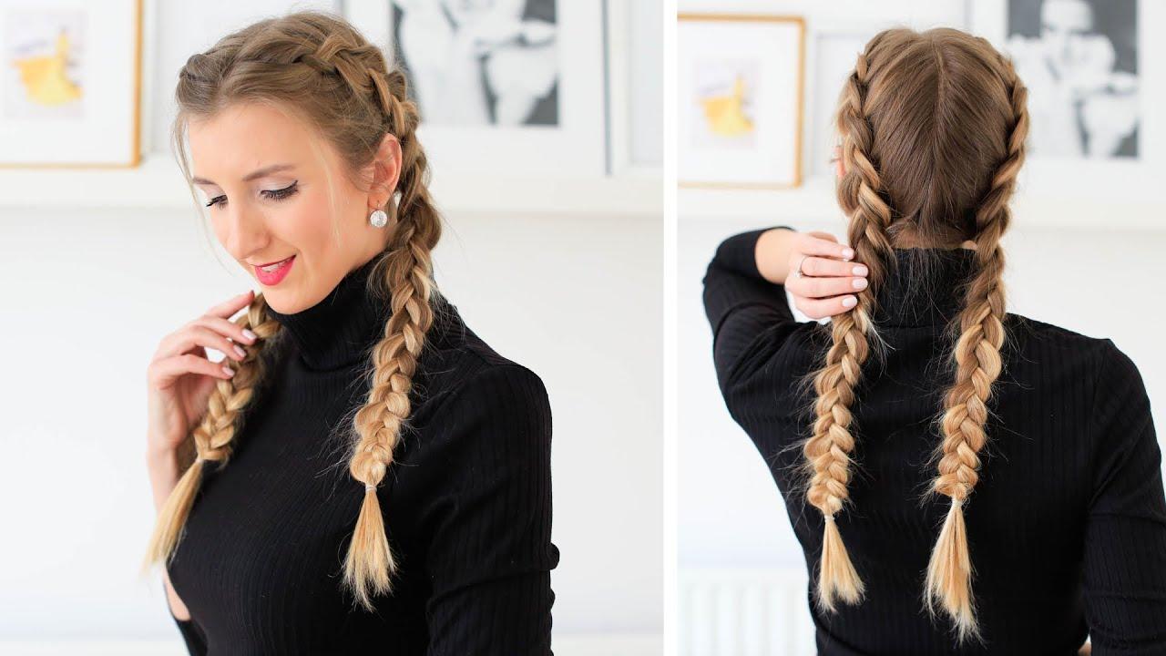 How to: Double Dutch Braid Hair Tutorial | Luxy Hair - YouTube