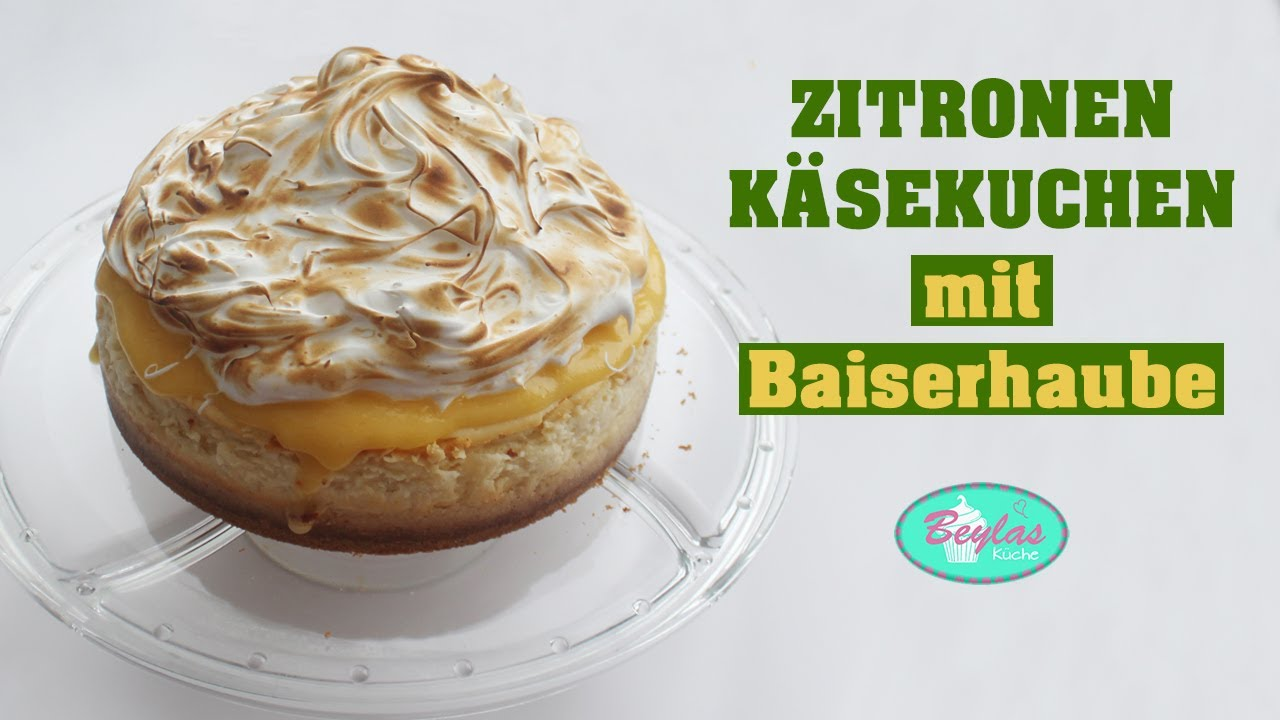 Zitronen Käsekuchen mit Baiserhaube - Lemon Meringue Cheesecake