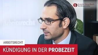 Kündigung und Kündigungsschutz in der Probezeit – Kanzlei Hasselbach