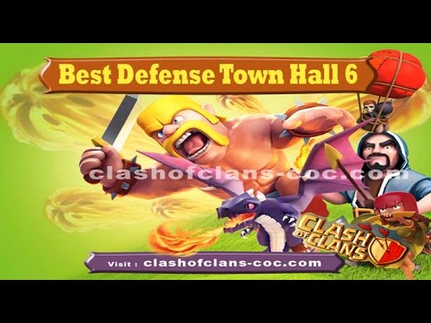 BEST Base Defense Design Layout Strategy Clash Of Clans TH 6