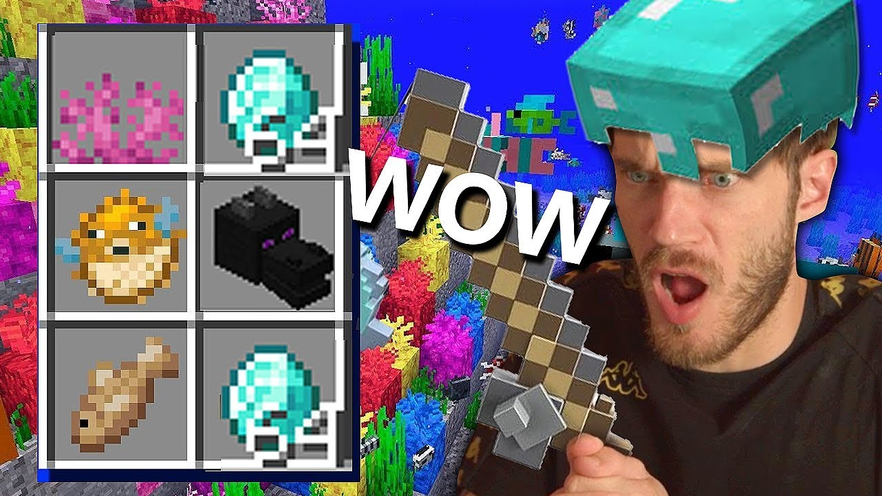 I found AMAZING loot from FISHING in Minecraft! - Part 23