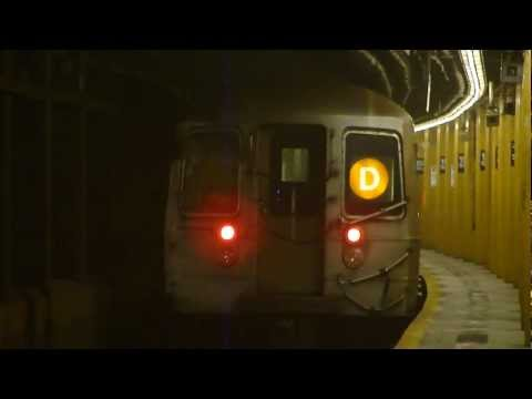 IND Concourse Line: R68 D Train at 155th St-8th Ave (Brooklyn Bound)