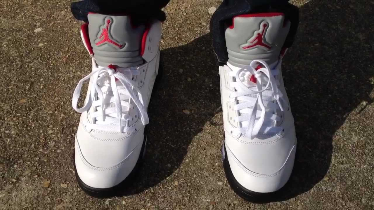 air jordan 5 v retro fire red