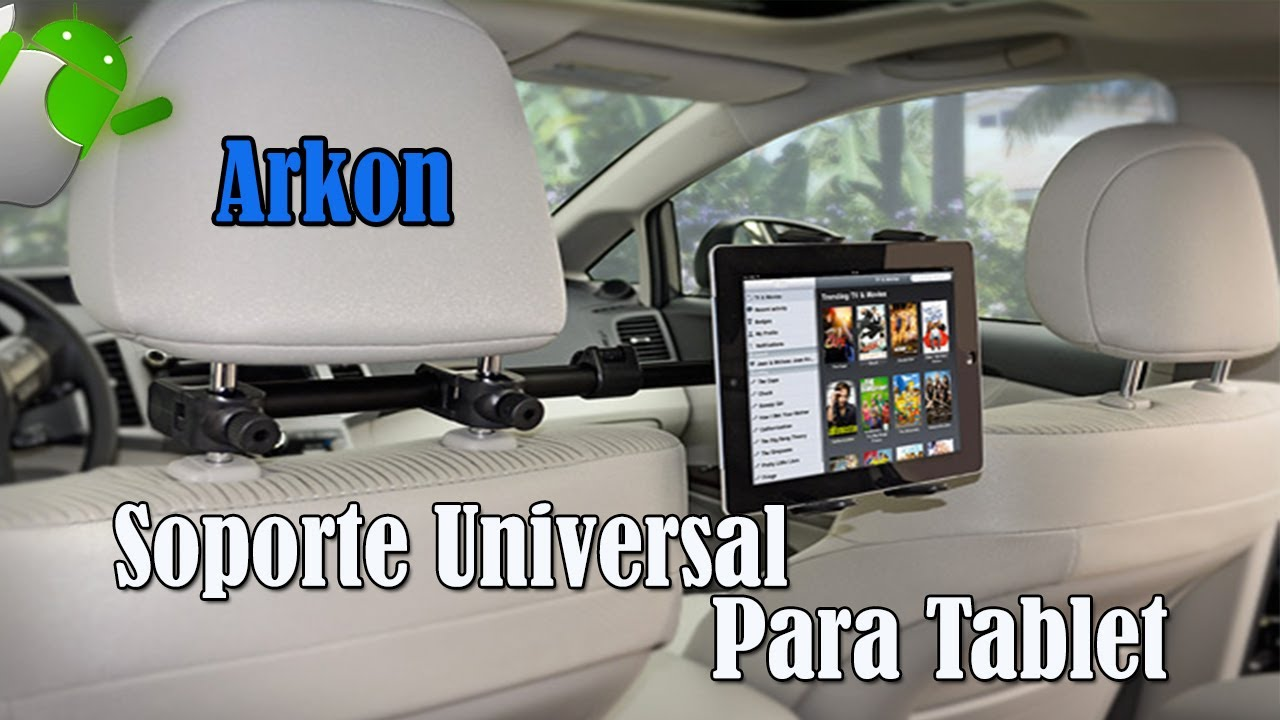 Arkon soporte universal para tablet youtube for Soporte tablet pared