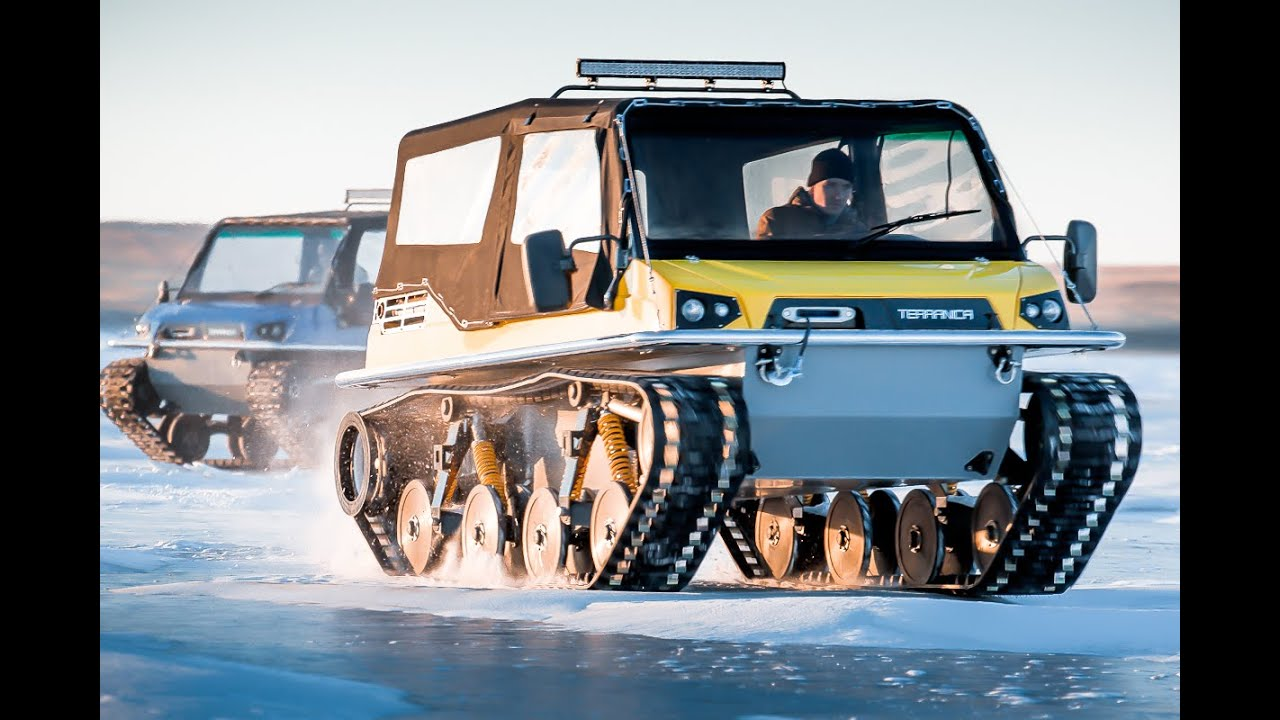 Russian all-terrain vehicle Terranica Dreamtrack with plastic tracks, which will take place anywhere 48